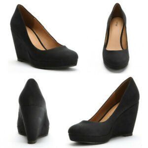 Apt 9 9M Suede Kensington Platform Wedges Shoes